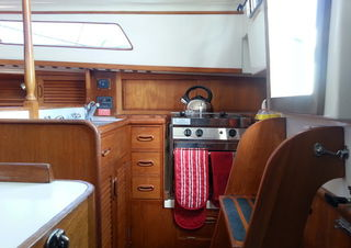 Galley ~ Sensation ~ Bareboat Sailing Yacht Boat Charters, Bay of Islands, New Zealand, NZ